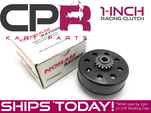 "Clutch Noram TITAN 25.4mm (1"") bore (Green Springs) HIGH PERFORMANCE Race Clutch up to 20hp"