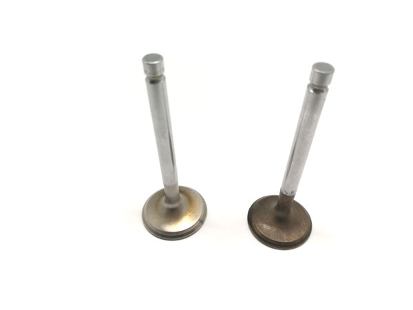 Valve Pair EXHAUST 24mm and INLET 25mm SHOP SOILED Stainless Steel Polished Suit Honda Clone GX200 ENCL65