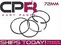Piston Ring Set suit CPR EPSKB72 72mm Flat Top Piston Kit